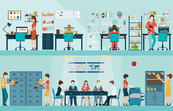 open office or video conferencing