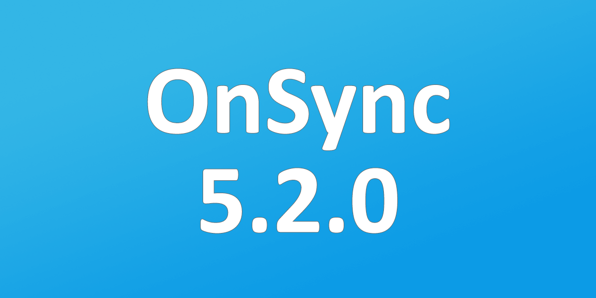 OnSync 5.2.0 - Goodbye Flash Charts, Hello Fancy HTML5!